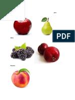 Frutas Del Clima Frio
