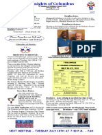 Knights of Columbus- July 2018 Newsletter