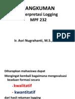 Rangkuman MK Interpretasi Logging MPF 232 -  Desember  2015 (1).pptx