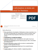 Spreadsheet information systems are essential for business