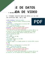 Base de Datos Tienda de Video 1