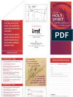 Holy Spirit Conference 2018 Brochure