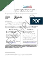 Ejemplo Informe Evaluación Individual 2017