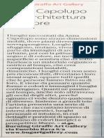 Articolo mostra Anna Capolupo su La Repubblica