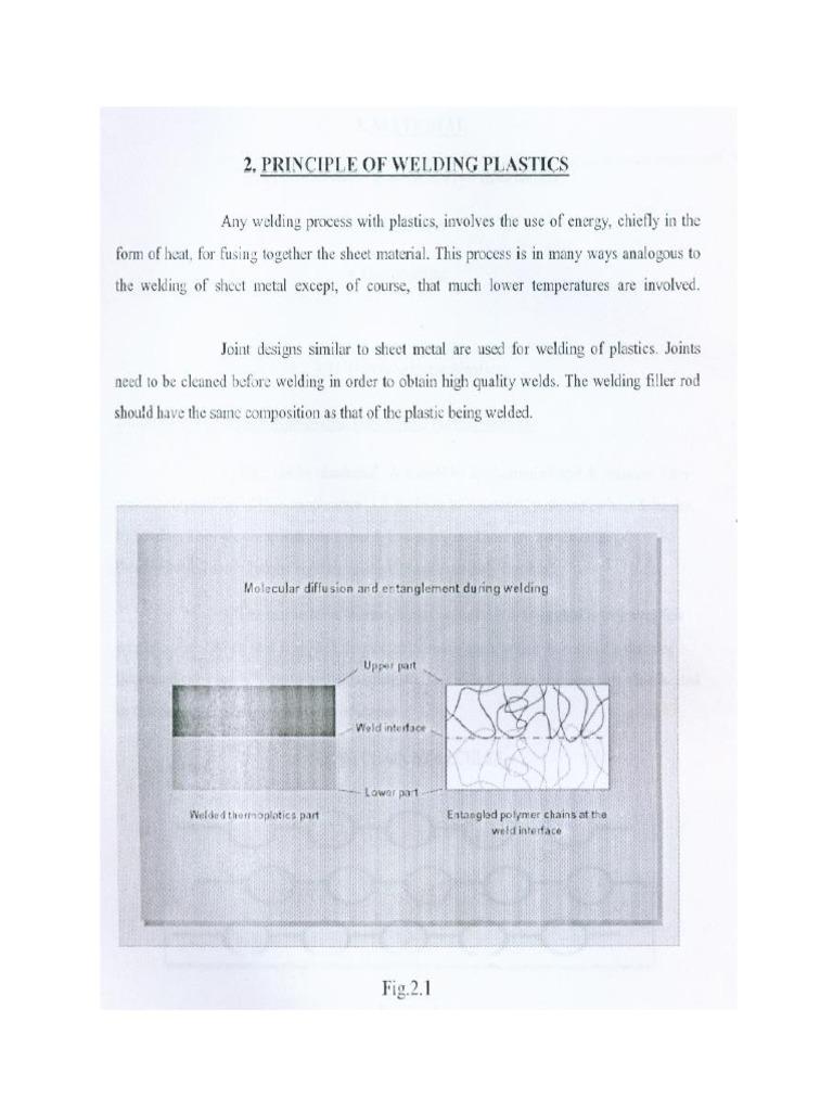 Plastic Welding Thermoplastic Diffusion Diagram