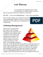 Management Theory | Personal Finance Lab