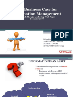 The Business Case for Information Management An Oracle Thought Leadership White Paper December 2008