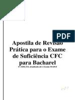 Apostila Exame de Suficiencia Cfc 4 Edicao Bacharel 01 2014