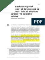 Becerra Carmen.- La Jurisdicción Especial Indígena y El Dercho Penal en Colombia. Entre El Pluralismo y La Autonomía Relativa