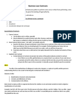 Business Law Contracts Notes