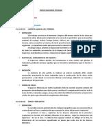 CAPATACION - ESPECIFICACIONES TÉCNICAS