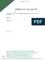 Responsabilidade Civil - Encontro 09