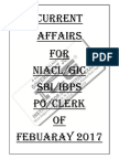 Bank Current Affairs (February 2017)