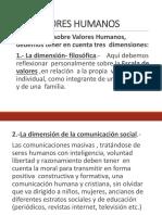 3. Los Valores Humanos