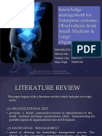 Knowledge management for Enterprise systems