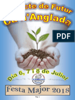 Programa Festa Major Ca n'Anglada 2018