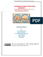 FDP 301x_Course Journal_Mithesh Kumar
