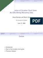 Identification of Circadian Clock Genes  by datamining Microarray data