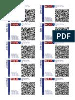 010 VCARD, QR Code, 85x54mm, US-Address Format