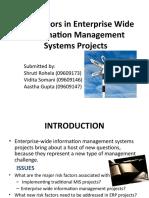 Risk Factors in Enterprise Wide Information Mgmt Systems1