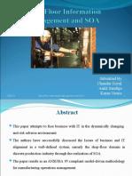 Shop Floor Information & SOA
