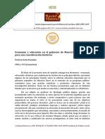 Economía y educación en el gobierno de Mauricio Macri. Notas para una consideración histórica