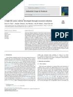 A High-Oil Castor Cultivar Developed Through Recurrent Selection