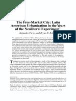 PORTES, Alejandro e ROBERTS, Bryan - The Free Market City Latin America Urbanization