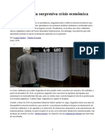 Las Raíces de La Sorpresiva Crisis Económica Argentina