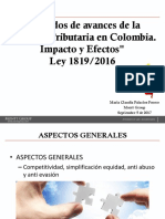 Ppt Reforma Tributaria Ley 1819 2016- Sep 5 2017 (1)