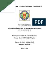 Esquema Proyecto Tesis Utea Fecha 3 de Julio 2018