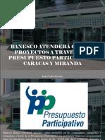 Juan Carlos Escotet - Banesco atenderá cuatro proyectos a través del presupuesto participativo Caracas y Miranda