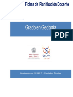 Fichas Plan Docente Grado en Geologia 2016-17 Actualizado 6-10-16