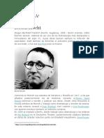 BIOGRAFÍA Bertolt Brecht