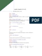 Práctica 4. Puntos Singulares Regulares Parte II