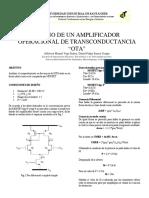 Diseño Amplificador de Transconductancia