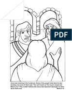 Mark 6.1-6 Coloring Page