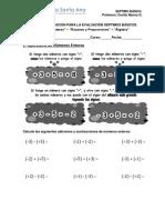 Guía Prep Ev Séptimo Mayo Enteros Razones Álgebra