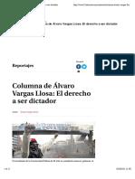 Vargas Llosa- El Derecho a Ser Dictador