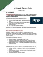 Algorithms & Pseudo-Code