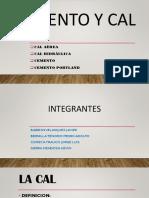 Diapositiva Cemento y Cal