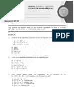 Ecuación Cuadrática I