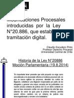Modificaciones Procesales de La Ley 20886