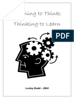 Learning to Think - Thinking to Learn