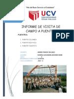 Informe de Visita a Puentes