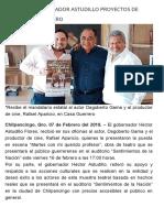 07-02-2018 Respalda Gobernador Astudillo Proyectos de Teatro en Guerrero.
