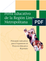 Perfil Educativo de la Región Lima Metropolitana