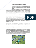 Deporte Como Factor Educativo y Sus Beneficios