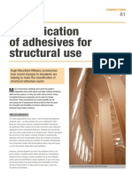 Classification of Adhesives for Structural Use