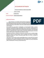 Acta de Constitución de Proyecto Final